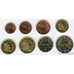 Cyprus. A set of coins 1 cent - 2 Euro 2015