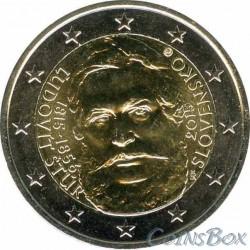 Slovakia. 2 euros. 2015. Ludovit Stuhr