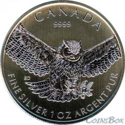 Канада 5 долларов 2015 Сова