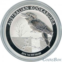 1 Доллар 2016 год. Кукабарра