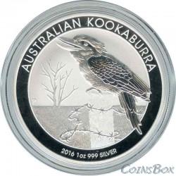 1 Dollar 2016. Kookaburra