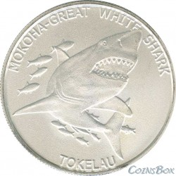 Токелау 5 долларов 2014 Желтый тунец