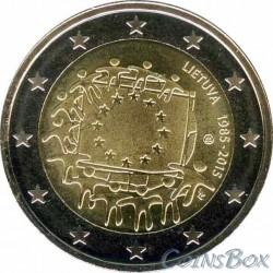 LIETUVA. 2 euros. 2015. 30 years of the EU flag
