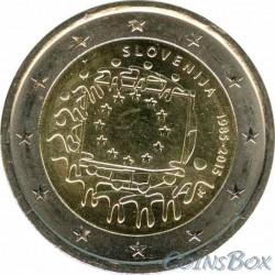 Словения. 2 евро. 2015 год. 30 лет Флагу ЕС