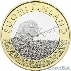 Финляндия 5 евро 2015 Бобер ()
