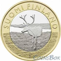 Финляндия 5 евро 2015 Олень