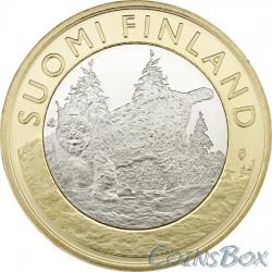 Финляндия 5 евро 2015 Рысь