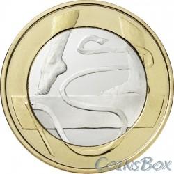 Финляндия 5 евро 2015 Гимнастика