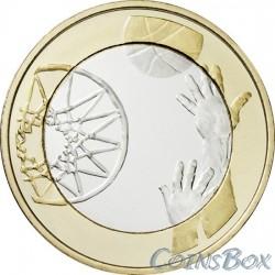 Финляндия 5 евро 2015 Баскетбол