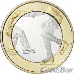 Финляндия 5 евро 2015 Фигурное катание