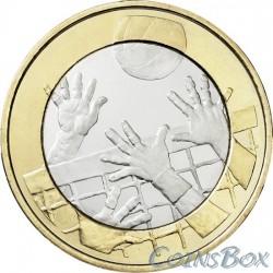 Финляндия 5 евро 2015 Волейбол