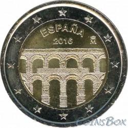 Испания. 2 евро. 2016 год.  Акведук в Сеговии