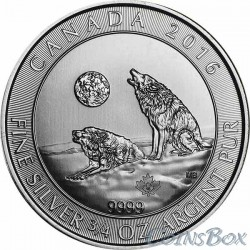 Canada 2 dollars 2016 Howling Wolves