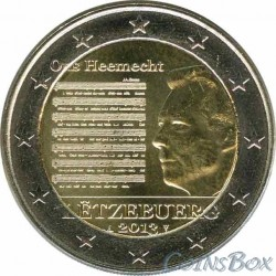 Luxembourg. 2 euros. year 2013. National anthem.