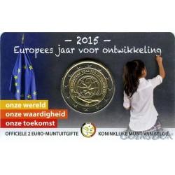 Бельгия 2 евро 2015 год. Европейский год развития