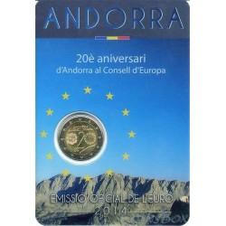 Andorra. 2 euros. 2014