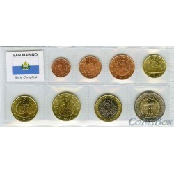 San Marino. A set of coins 1 cent - 2 Euro