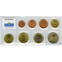 Сан-Марино. Набор монет 1 цент - 2 Евро.