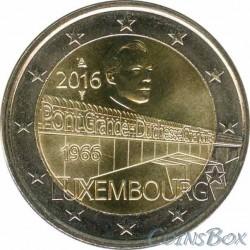 Luxembourg. 2 euros. 2016. Duchess Charlotte Bridge.