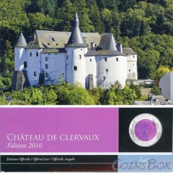 Luxembourg. 5 euros. 2016. Clervaux Castle.