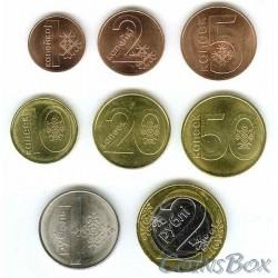 Белоруссия. Набор монет 1 копейка - 2 рубля 2009 год