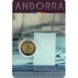 Andorra. 2 euros. 2015. Adulthood.