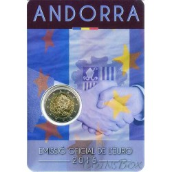 Andorra. 2 euros. 2015. Customs Union.