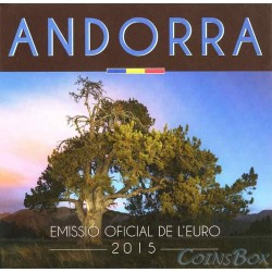 Andorra. 2 euros. 2015. Annual coin set
