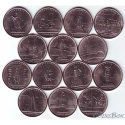 Набор монет 5 рублей 2016 - Города-столицы государств, освобожденные советскими войсками от немецко-фашистских захватчиков.