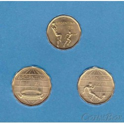 Set Argentina coins. FIFA World Cup 1978