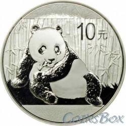 10 юаней 2015. Панда. Серебро