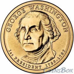 1 Доллар. 1-й президент США. Джордж Вашингтон.