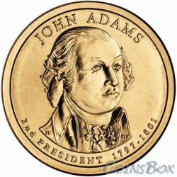 1 Доллар. 2-й президент США. Джон Адамс.