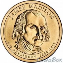 1 Доллар. 4-й президент США. Джеймс Мэдисон.