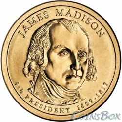 1 dollar. 4th President of the United States. James Madison.