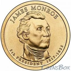 1 Доллар. 5-й президент США. Джеймс Монро.