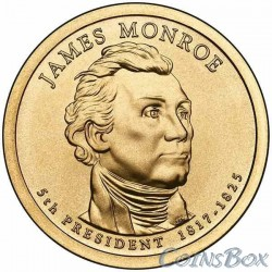 1 dollar. 5th US president. James Monroe.