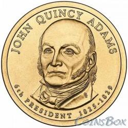 1 Доллар. 6-й президент США. Джон Куинси Адамс.