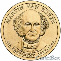 1 Доллар. 8-й президент США. Мартин Ван Бюрен. 2008