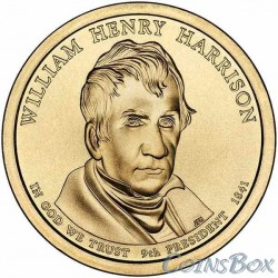 1 dollar. 9 th US president. William Henry Harrison.