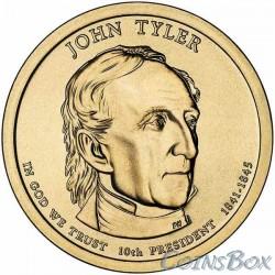 1 Доллар. 10-й президент США. Джон Тайлер. 2009