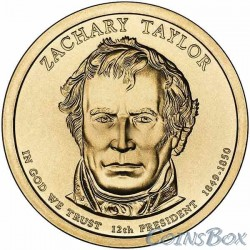 1 dollar. 12th US President. Zachary Taylor. 2009