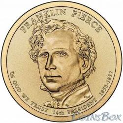 1 dollar. 14th US President. Franklin Pierce. 2010
