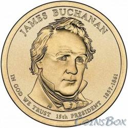 1 dollar. 15th President USA.Dzheyms Buchanan. 2010