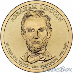 1 dollar. 16th US President. Abraham Lincoln. 2010