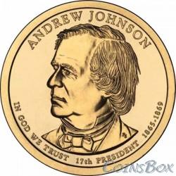 1 dollar. 17th US President. Andrew Johnson. 2011