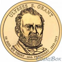 1 dollar. 18th US President. Ulysses S. Grant. 2011