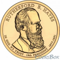 1 dollar. 19th US President. Rutherford B. Hayes. 2011
