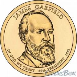 1 dollar. 20th US President. James Garfield. 2011