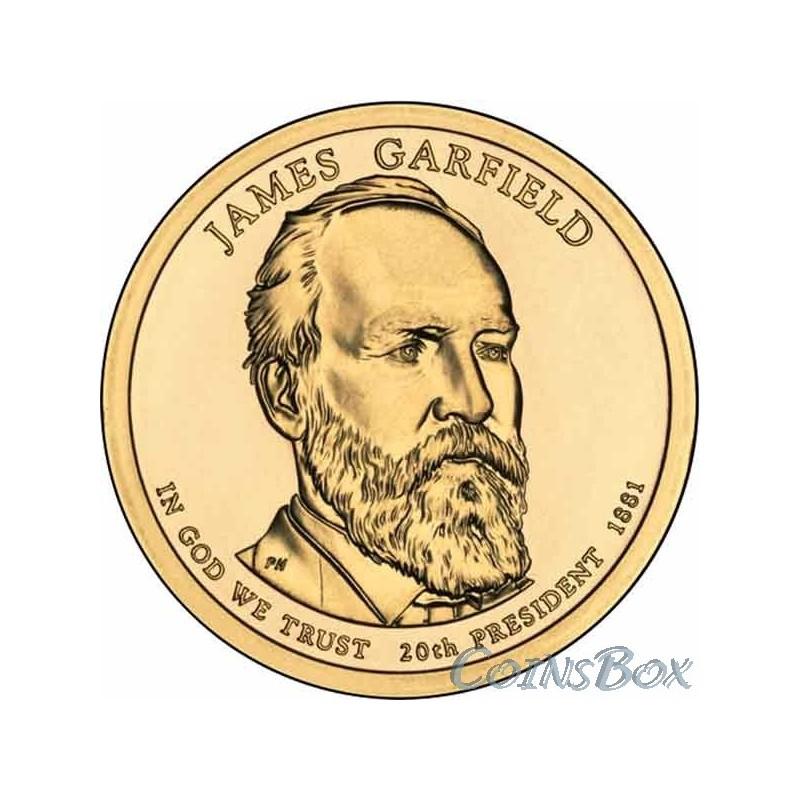 """Купить монета сша 1 доллар """"20-й президент соединённых штато."""